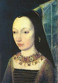 Anonymous portrait of Margaret of York, c 1468, Louvre, Paris. Margaret was Edward IV and Richard III's sister. She married Charles the Bold, Duke of Burgundy in 1468.
