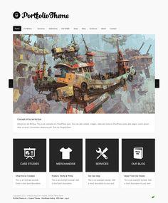 Organic Portfolio, WordPress Responsive Artwork Theme