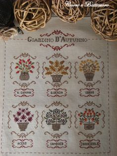 Chart GIARDINO d' AUTUNNO - Hardcopy or PDF format,also available in English and French by CuoreeBatticuoreShop on Etsy https://www.etsy.com/listing/162237204/chart-giardino-d-autunno-hardcopy-or-pdf