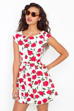 Nasty Gal Floral Cry Baby Dress