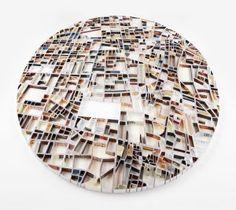 "Paper Sculpture Map ""Terhan: Collective Fictions"" by Matthew Picton Teheran, Arch Model, Paper Artist, Sculpture Art, Paper Sculptures, Oeuvre D'art, Installation Art, Book Art, Contemporary Art"
