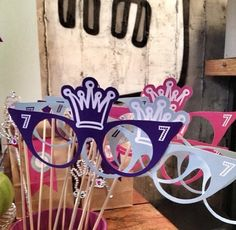 Photo booth props for Ela's birthday party