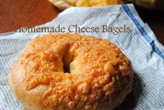 Cheese Bagels from scratch! Pretty easy too.