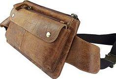 Cheap Genda 2Archer Men Retro Genuine Leather Waist Bag Fanny Pack Waist Hip…
