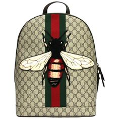 Web Animalier backpack with bee - Gucci Backpack - Ideas of Gucci Backpack - Gucci. Web Animalier backpack with bee Replica Handbags, Gucci Handbags, Luxury Handbags, Gucci Bags, Gucci Bee Bag, Designer Handbags, Gucci Purses, Look Fashion, Fashion Bags