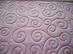 Swirling quilting design