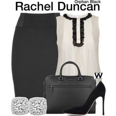 Inspired by Tatiana Maslany as Rachel Duncan on Orphan Black.