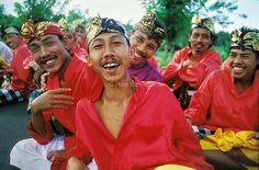 Indonesia. Bali. Men at Hindu festival