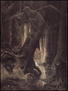 lithuania puszcza by Artur Grottger, 1864