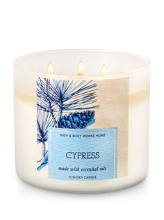 Cypress 3-Wick Candle - Bath And Body Works