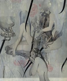 joao ruas    verso 4.   I like the 'collaged' looked of this drawing.  It looks there are layers of texture and and it pops here and there with subdued reds.