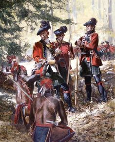 Scottish troops during the French and Indian War (7 Years War)