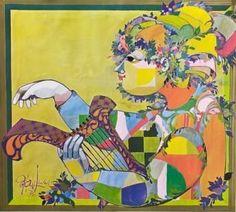 Björn Wiinblad's artwork has always fascinated me; his style, colors, humor...