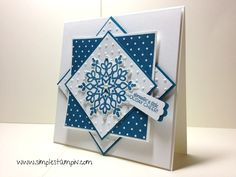 card by Susan Itell.... love the design of this card.... (change sentiment)