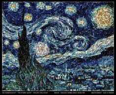 Starry Night made from Hubble Telescope images.  Arrangement by Alex H. Parker.