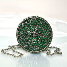 my two obsessions green and vintage jewelry