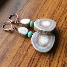 Made in Montana Elk Antler Earrings by AntlerArts on Etsy