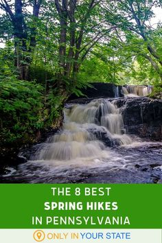 Discover some of the best and most beautiful hiking trails in Pennsylvania. All easy hikes, they are beginner and family-friendly. Find waterfalls, mountains, lakes, forests, and more! Travel Usa, Travel Info, Travel Ideas, Waterfalls In Pa, Beautiful Places To Travel, Beautiful Scenery, Ohiopyle State Park, Spring Break Vacations, Largest Waterfall