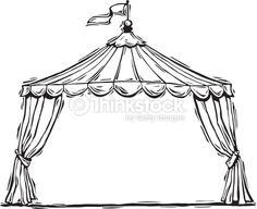 Vector Art : Circus tent mortice