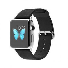 Refurbished Apple Watch (Series 1) 38mm Stainless Steel with a Black Classic Leather Band (MJ312LL/A) (A1553)