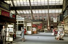 The concourse at Manchester Central Station in the Flashbak. Manchester Central, Manchester City Centre, Manchester England, Salford City, Rochdale, Central Station, Blackpool, British History, Old Photos