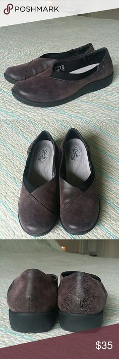 Clarks Cloud Steppers Slip On Loafer 9 Purple Gray Clarks Cloud Steppers Womens 9 M Sillian Jetay Purple Gray Mocs Loafers Slip On Clarks Shoes Flats & Loafers