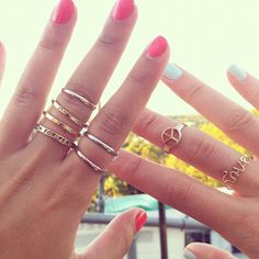 stack gold rings