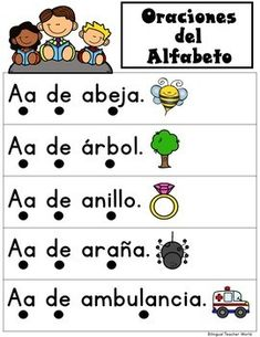 Bilingual kinder and Dual Language kinder alphabet activities for Bilingual learning centers. Gomez and Gomez activities for Bilingual centers. Bilingual Centers, Bilingual Kindergarten, Bilingual Classroom, Bilingual Education, Physical Education, Art Education, Learning Sight Words, Learning Letters, Alphabet Worksheets