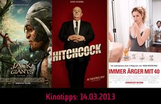 Die #Kinotipps vom 14.03.2013 u.a. mit #Hitchcock & Jack and the Giants!