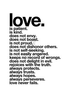 Love is Patient Love Is Kind  Inspirational Love by theloveshop, $18.00