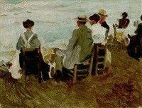 La playa de San Sebastian. 1915
