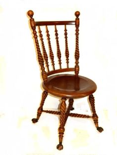 Hunzinger Style Cherry B U0026 C Foot Chair : Lot 1047