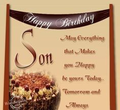 Son birthday                                                                                                                                                                                 More