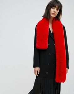 Buy ASOS Faux Fur Bright Red Scarf at ASOS. With free delivery and return options (Ts&Cs apply), online shopping has never been so easy. Get the latest trends with ASOS now. Fall Scarves, Red Scarves, Over 50 Womens Fashion, Girl Fashion, Asos, Red Shawl, Fashion Advice, Autumn Winter Fashion, Winter Style