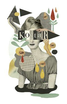 ©Mathilde Aubier, design, vintage,  found image, collage, colour, illustration