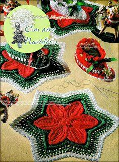 Patrones carpeta y botas navideñas