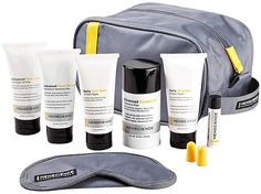Menscience Men's Travel Kit. The most complete and advanced men's travel kit, designed to comply with current air travel security rules so you don't need to check your favorite MenScience products. A full regimen (shave, after shave, cleanser, moisturizer, shampoo, deodorant, lip balm and more) includes ten professional-grade products to cover all of your skincare and grooming needs during trips. TSA-allowed items.
