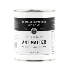 Sourced from deep within the Negative Zone, our popular economy grade antimatter is now available in both quart and half-pint sizes. Please remember: encounters between particles and antiparticles lea Half Pint, Super Powers, Deep, Canning, This Or That Questions, Superhero, Popular, Apothecary Bottles, Doorway
