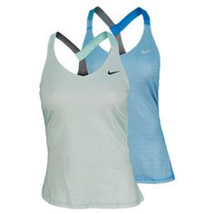 NIKE WOMENS PRINTED KNIT TENNIS TANK