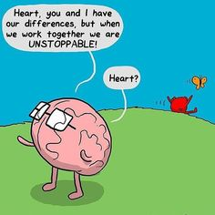 #heart and brain