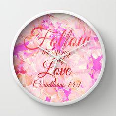 """Follow the Way of Love"" Home Decor Wall Art Clock"