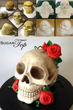 skull cake tutorial - Google Search