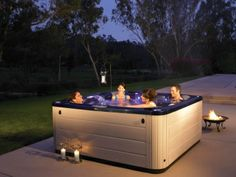 Why have a block party when you can have a hot tub party? Invite over your neighbors for some BBQ and a hot soak!