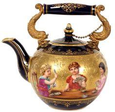 Royal Vienna cobalt teapot