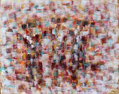 Three chassidim dancing, arm tones painting.