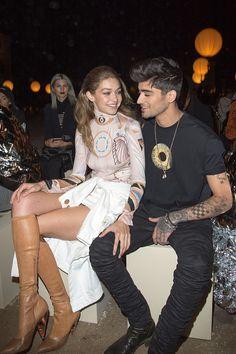 Gigi Hadid & Zayn Malik || Givenchy S/S 2017, Paris Fashion Week Womenswear (October 2, 2016)