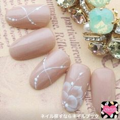 かわいいネイルを見つけたよ♪ #nailbook Elegant Nail Designs, Elegant Nails, Nail Art Designs, Cute Nails, Pretty Nails, Japan Nail Art, Bridal Nail Art, Nail Art Set, Wedding Nails Design