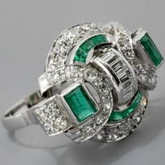 """Defines """"Vintage Jewelry""""     Vintage Jewelry includes the period between the 1930's and the 1950's, including the chunky Retro 1940's period mounted in particular with Diamonds and Rubies but includes unique engagement rings earrings, necklaces, bracelets, pendants, watches and  channel and prong-set with Sapphires and Emeralds in platinum and white gold."""