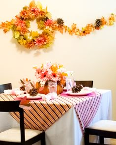 Thanksgiving: Sugar and Spice Tablescape Ideas for the Kids table #Thanksgiving #tablescape #Kids #table #Party