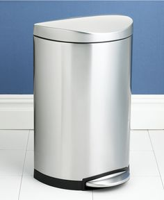 simplehuman Deluxe Semi-Round Step Trash Can, 40-Liter - Cleaning & Storage - Kitchen - Macy's